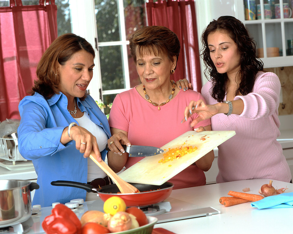 Family lowers cholesterol by preparing healthier meals