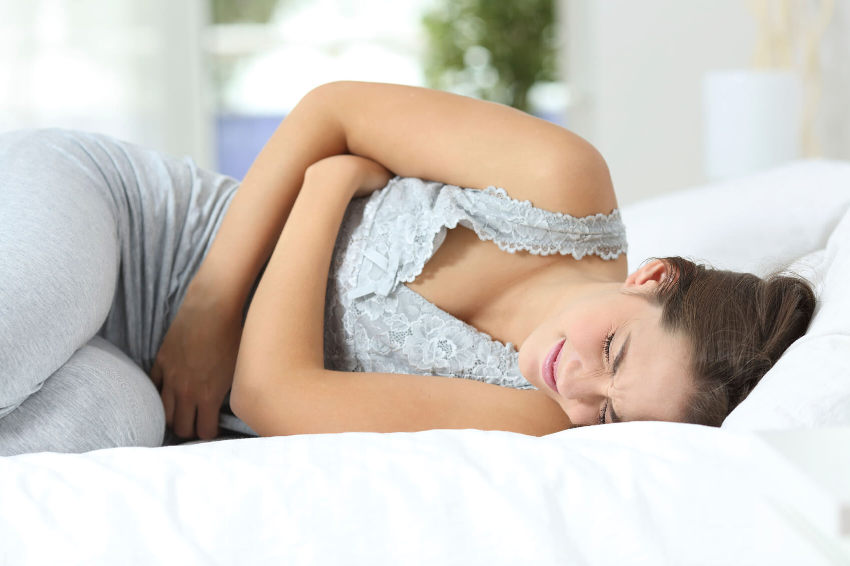 Women suffering from the symptoms of IBS